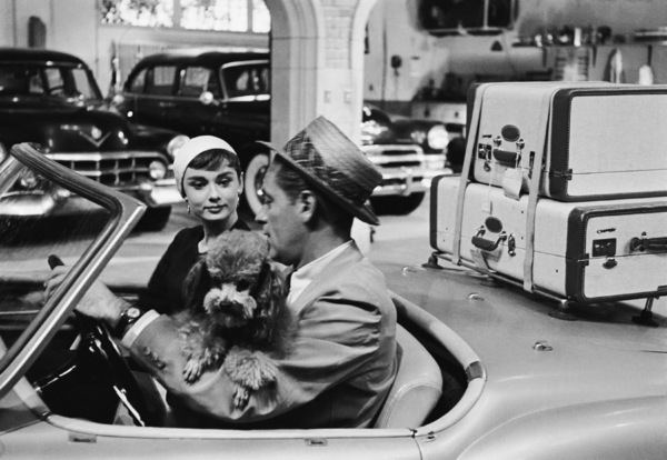 """Audrey Hepburn and William Holden during the making of """"Sabrina""""1953© 2000 Mark Shaw - Image 8124_0100"""