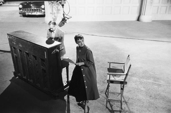 """Audrey Hepburn on the set of """"Sabrina""""1953© 2007 Mark Shaw - Image 8124_0108"""
