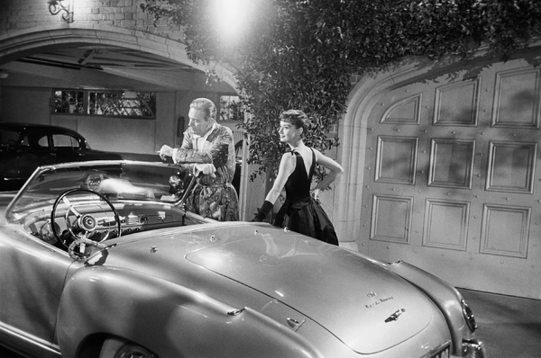 "William Holden and Audrey Hepburn on the set of ""Sabrina""1953© 2007 Mark Shaw - Image 8124_0109"