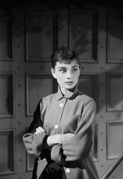 """Audrey Hepburn on the set of """"Sabrina""""1953© 2007 Mark Shaw - Image 8124_0112"""