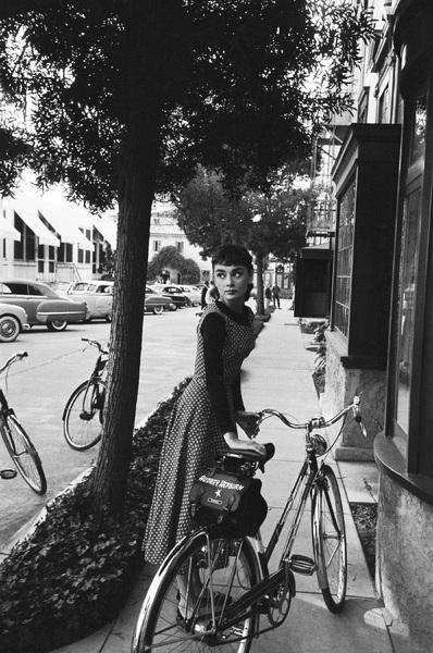 """Audrey Hepburn on the set of """"Sabrina""""1953© 2007 Mark Shaw - Image 8124_0115"""