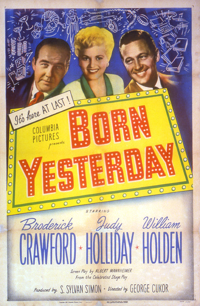 """Born Yesterday""Poster1950 Columbia**I.V. - Image 8697_0005"