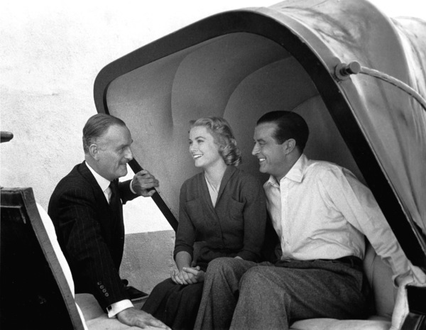 "John Williams, Grace Kelly, Ray Millandbehind the scenes of ""Dial M For Murder,"" 1954.0046912 - Image 9138_0013"