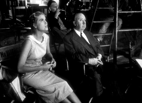 """Dial M For Murder,""Grace Kelly and Alfred Hitchcockon the set.1954 Warner Bros. © 1978 Sanford Roth - Image 9138_0040"