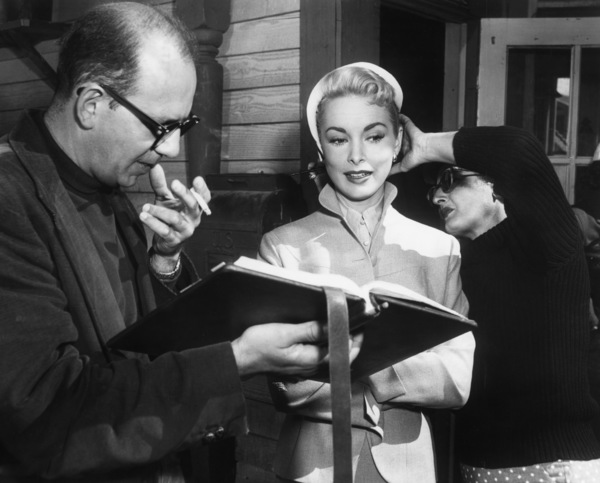 """""""Living It Up""""Janet Leigh rehearses her lines with dialogue director Rudy Makoul1954 York Pictures - Image 9154_0035"""