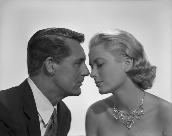 "Cary Grant and Grace Kelly in a portrait sitting used for the poster art of ""To Catch a Thief""1955** I.V. - Image 9339_0113"