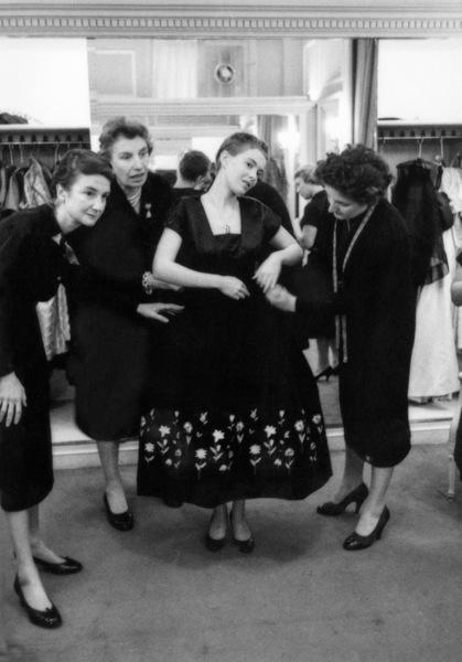 "Jean Seberg at Christian Dior in Paris during the making of ""Saint Joan""1957© 1978 Bob Willoughby - Image 9413_0026"