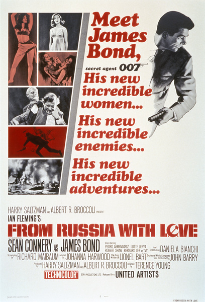 """From Russia with Love"" (Poster)1963 United Artists** I.V. - Image 9451_0018"