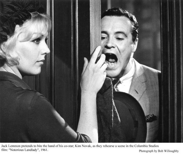 """Notorious Landlady""Kim Novak and Jack Lemmon during rehearsals.1962 Columbia © 1978 Bob Willoughby - Image 9459_0032"