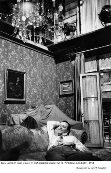 """Notorious Landlady""Jack Lemmon takes it easy behind the scenes.1962 Columbia © 1978 Bob Willoughby - Image 9459_0036"