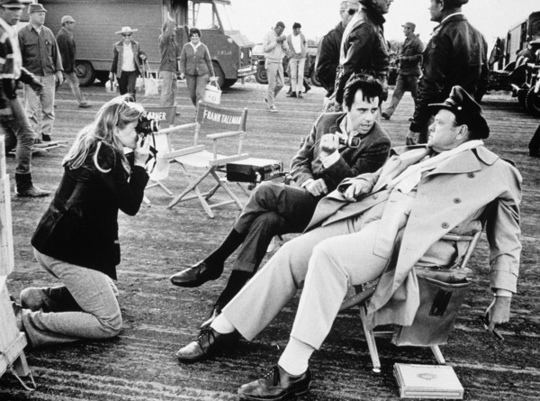 """""""Catch 22"""" Candice Bergen, Peter Bogdanovich and Orson Welles in Guaymas, Mexico 1969 © 1978 Bob Willoughby - Image 9488_0024"""