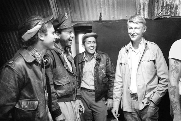 """Catch-22""Art Garfunkel, Alan Arkin, Martin Sheen, director Mike Nichols1970© 1978 Bob Willoughby - Image 9488_0039"