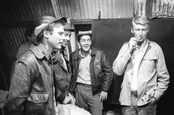 """Catch-22""Art Garfunkel, Alan Arkin, Martin Sheen, director Mike Nichols1970© 1978 Bob Willoughby - Image 9488_0040"