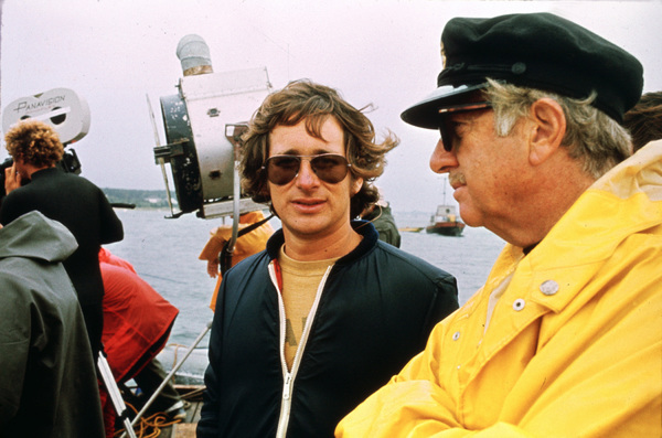 """""""Jaws""""Director Steven Spielberg, producer David Brown1975 Universal Pictures - Image 9575_0059"""