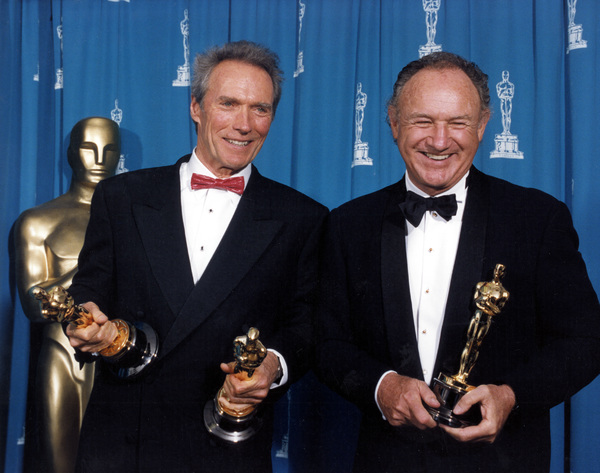 """Academy Awards: 65th Annual""Clint Eastwood and Gene Hackman1993 © 1993 AMPAS/LPI - Image 9677_0010"
