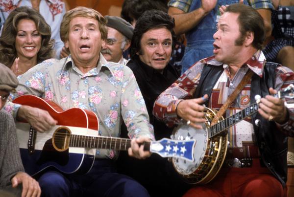 """Hee Haw""Buck Owens, Johnny Cash, Roy Clarkcirca 1973 © 1978 Marv Newton - Image 9742_0067"