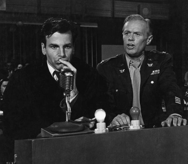 """Judgment at Nuremberg""Maximilian Schell, Richard Widmark1961 UAPhoto by Al St. Hilaire - Image 9892_0001"