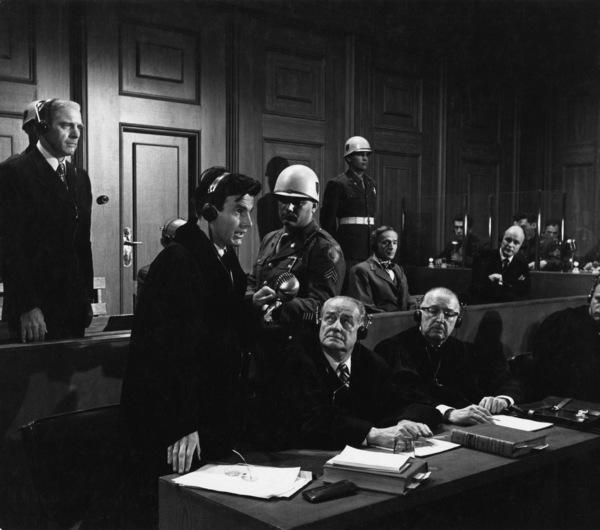 """Judgment at Nuremberg""Burt Lancaster, Maximilian Schell, Werner Klemperer1961 UAPhoto by Al St. Hilaire - Image 9892_0021"