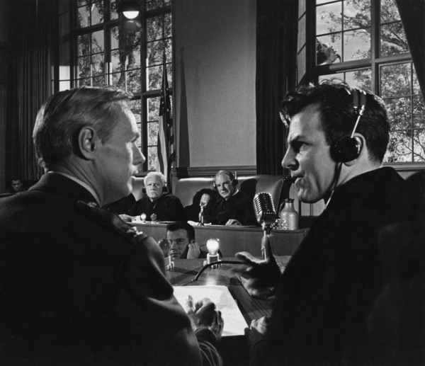 """""""Judgment at Nuremberg""""Richard Widmark, Spencer Tracy, Kenneth MacKenna, Maximilian Schell1961 UAPhoto by Al St. Hilaire - Image 9892_0023"""