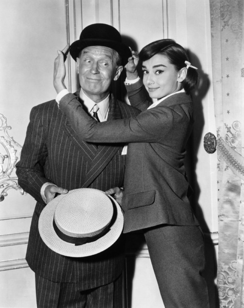 """""""Love in the Afternoon"""" Audrey Hepburn, Maurice Chevalier1957** I.V. - Image 9902_0030"""