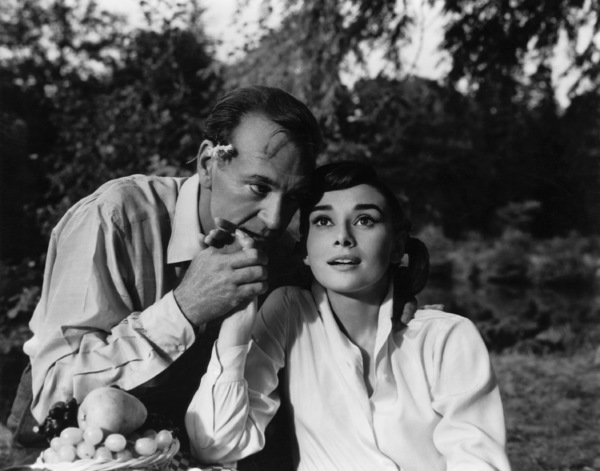 """Love in the Afternoon""Gary Cooper, Audrey Hepburn1957** I.V. - Image 9902_0031"