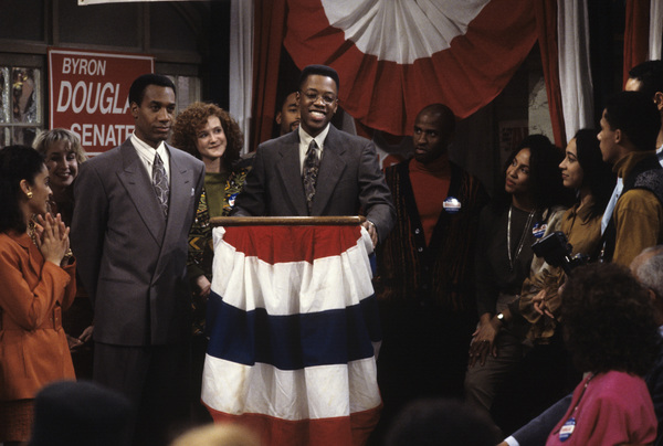 """A Different World"" (Episode: May the Best Man Win)Joe Morton, Kadeem Hardison1992© 1992 Gene Trindl - Image 9987_0072"