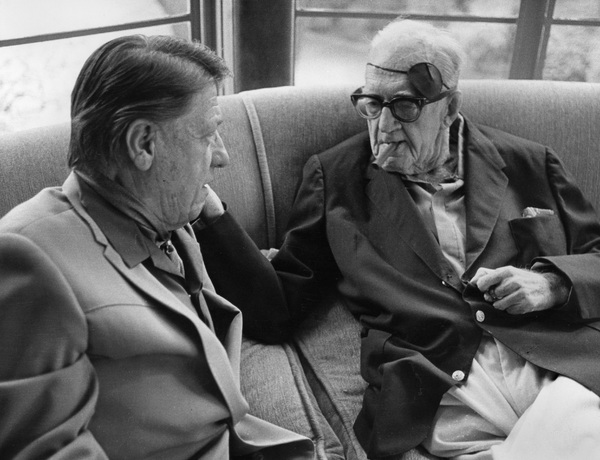 John Ford talking to George Stevens at a George Cukor hosted lunch for Luis Bunuel1972 © 1978 Marv Newton - Image 9999_0002